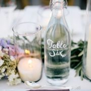 Stunning table number ideas for romantic summer weddings. Photography: Docuvitae.