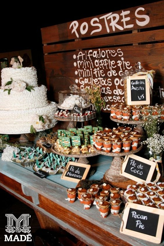 A wedding dessert table nobody will be able to resist.