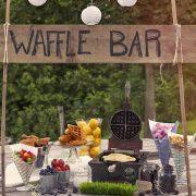 Creo que seremos los primeros en la fila para este waffle bar. Simple y divertido.
