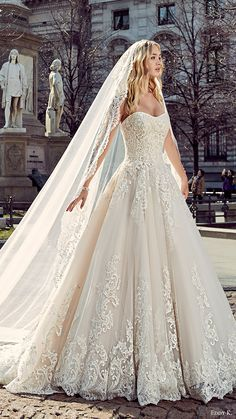 Sometimes the wedding dress is a worthwhile expense, amirite? Eddy K. 2017 Wedding Dresses, Milano Bridal Collection.