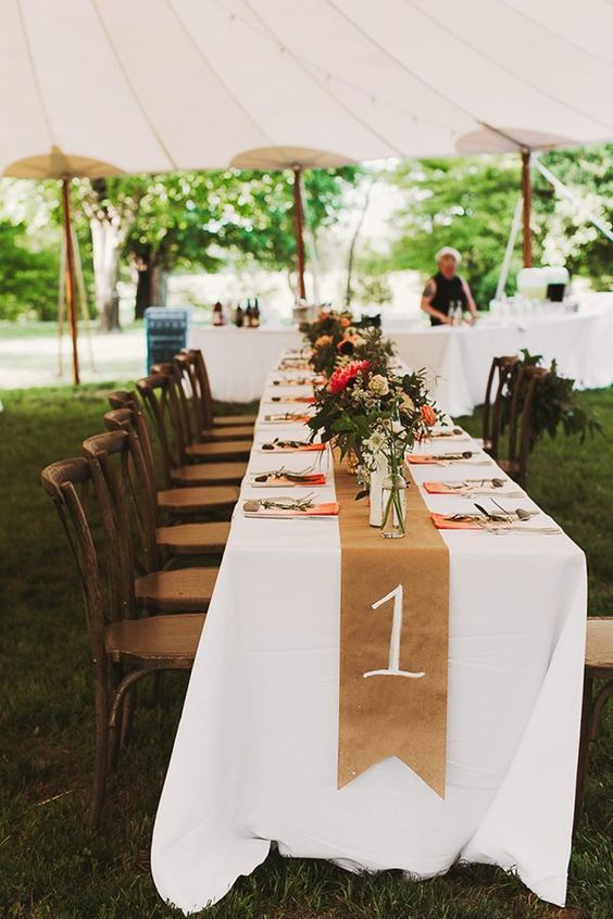 Unique table number ideas for wedding receptions and diys