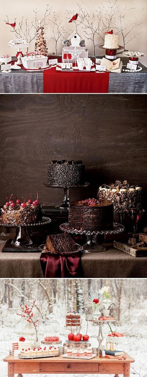 Winter inspired dessert table ideas.