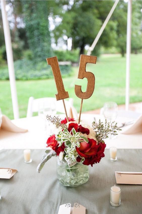 How great are these wooden table numbers by CountryBarnBabe? Super and strong and sturdy too.