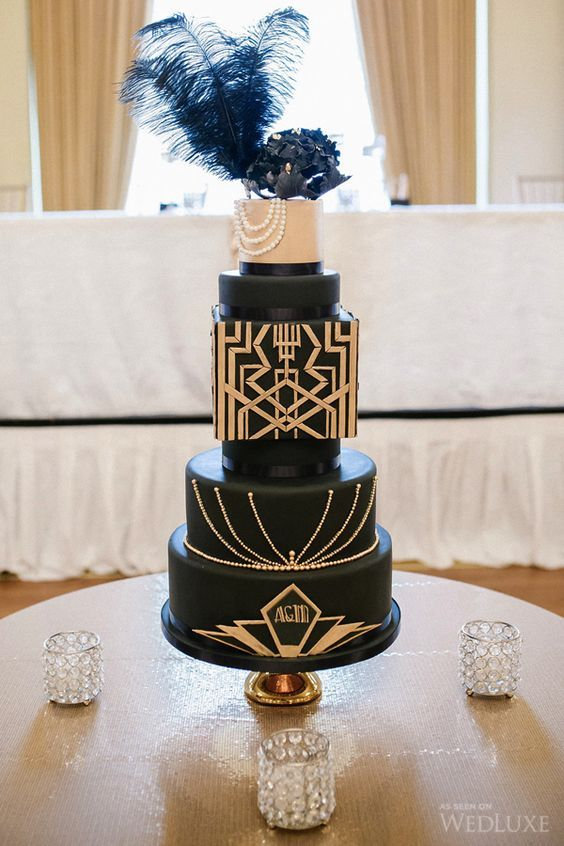 Vintage is also Art Deco and the 20's. Impressive cake captured by Life Studios at the Fairmont Hotel, Vancouver.