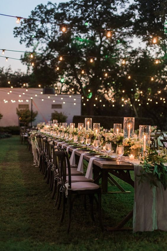 Backyard receptions are perfect for a second marriage wedding that won't break your budget.