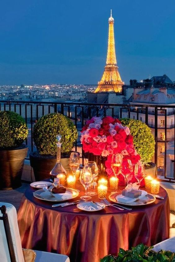Elope in front of the Eiffel Tower in the city of lights. Four Seasons in Paris, named one of the best rooftop wedding venues in the world.