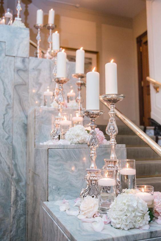 Impresionante boda en mármol y cobre en Vancouver. Foto: Blush Photography.
