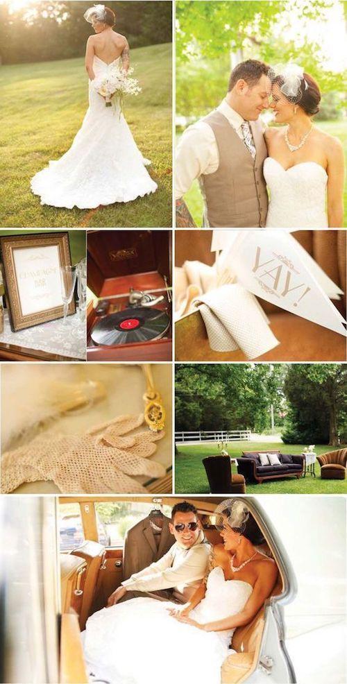 Los tonos neutros son ideales para las bodas otoñales. Fotografía de bodas: Krista Lee Photography.
