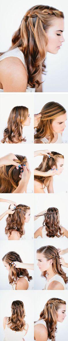Creatividad con trenzas para las chicas mas jóvenes.