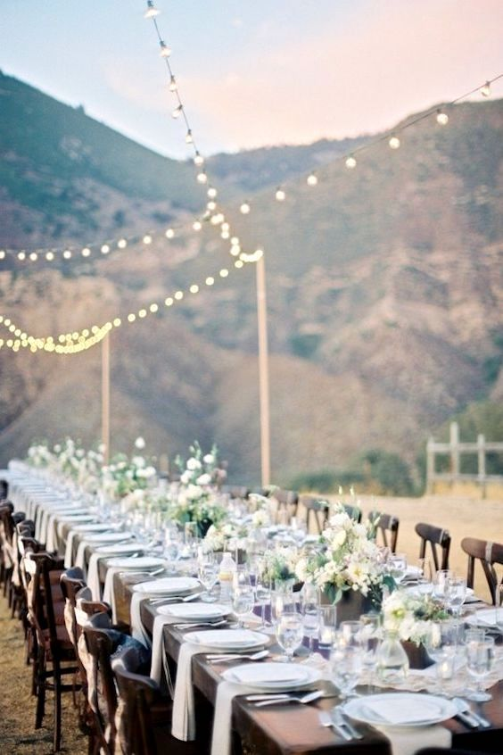 Embrace your love of nature and host your fall wedding reception in the mountains. B wright photo.