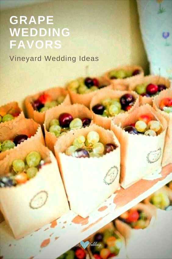 Give your guests a flavor to take away, grape wedding favors.
