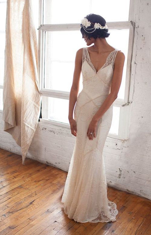Gorgeous lace gown and guess what? It's from an Etsy store. Check them out here!