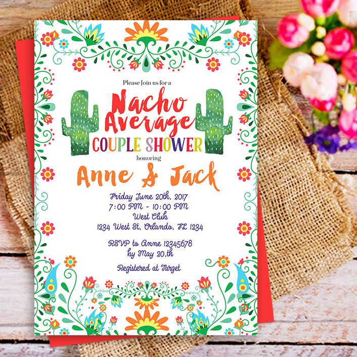 "Fiesta ""nacho average invitation"""