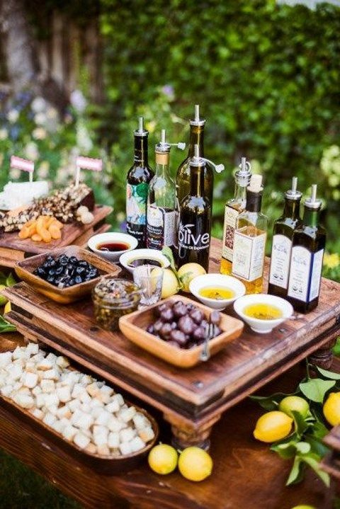 Indulge in an olive bar. If it's in Tuscany even better.