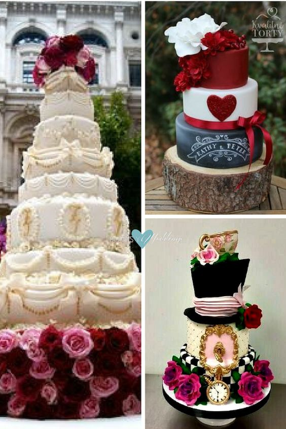 Original vintage wedding cakes.