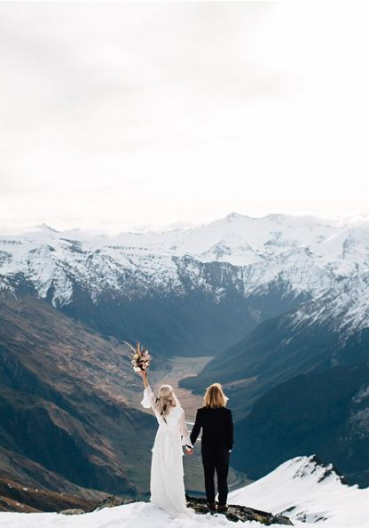 An unforgettable scenery for your winter wedding.