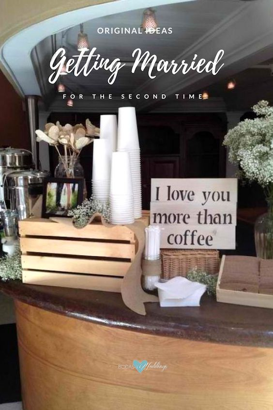 Celebrate your second marriage wedding at your favorite coffeehouse.