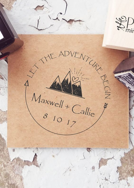 Adventurous couples may want to stamp mountains at their wedding!