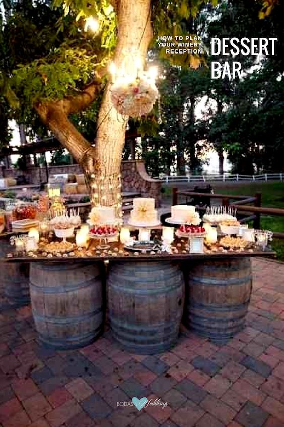 Vineyard dessert table.