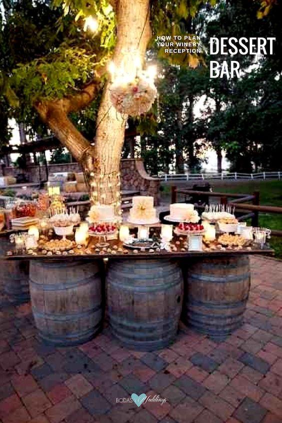 Vineyard dessert table.
