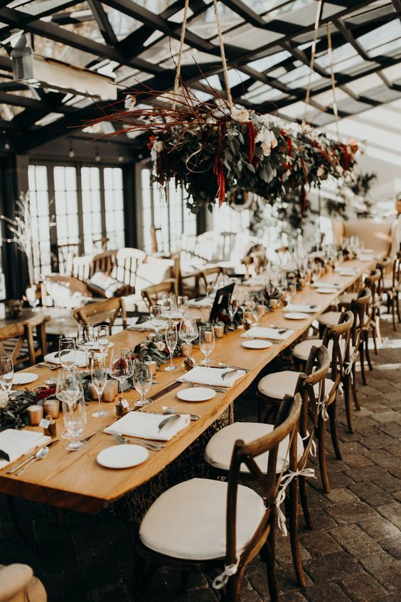 Vineyard wedding decor ideas at Carmel Valley. Photo: Greg Petersen.