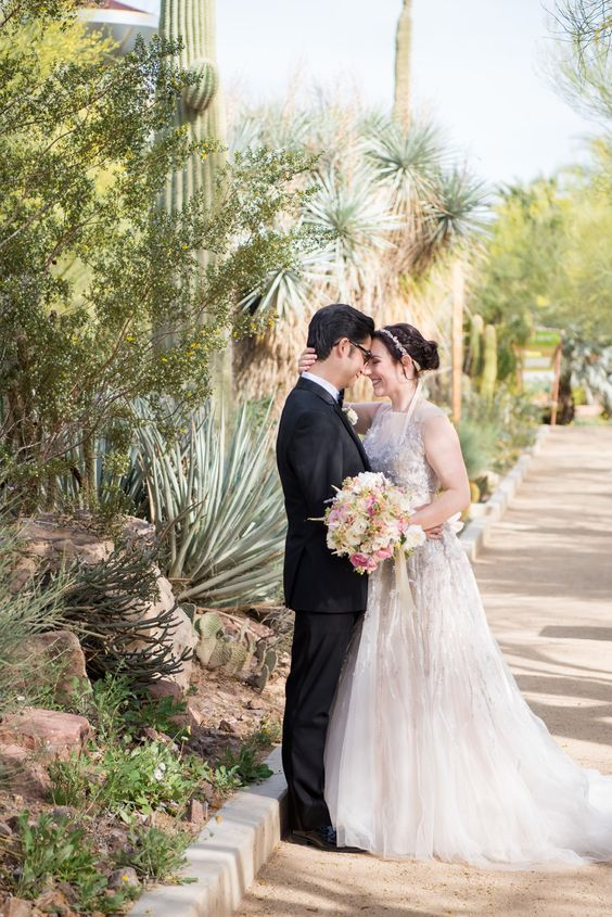 How original is a Botanical Garden Wedding at a desert? Springs Preserve in Las Vegas, Nevada.