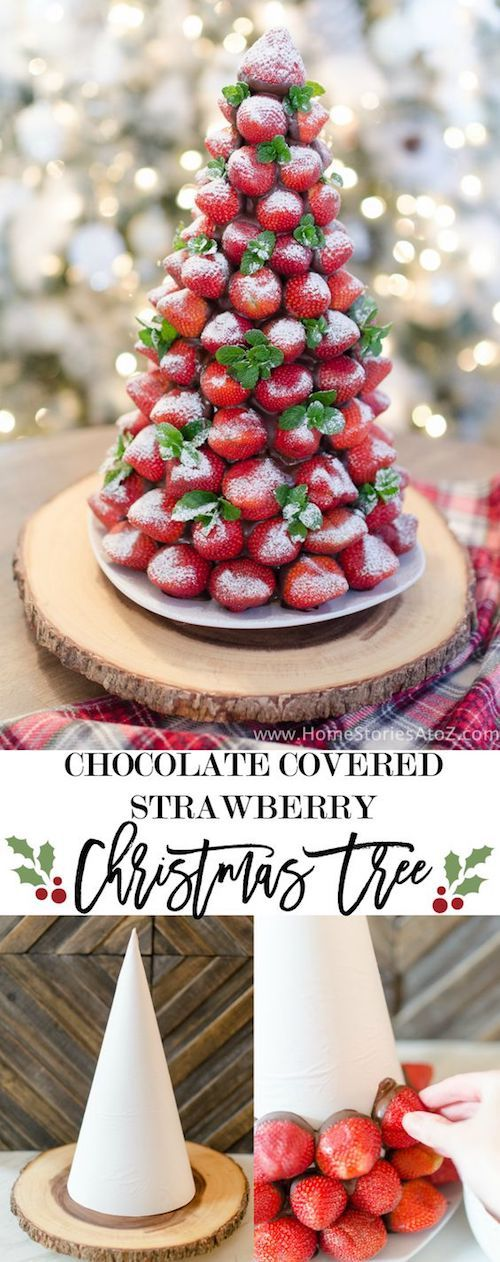 Chocolate covered strawberries tree by Home Stories from A to Z.