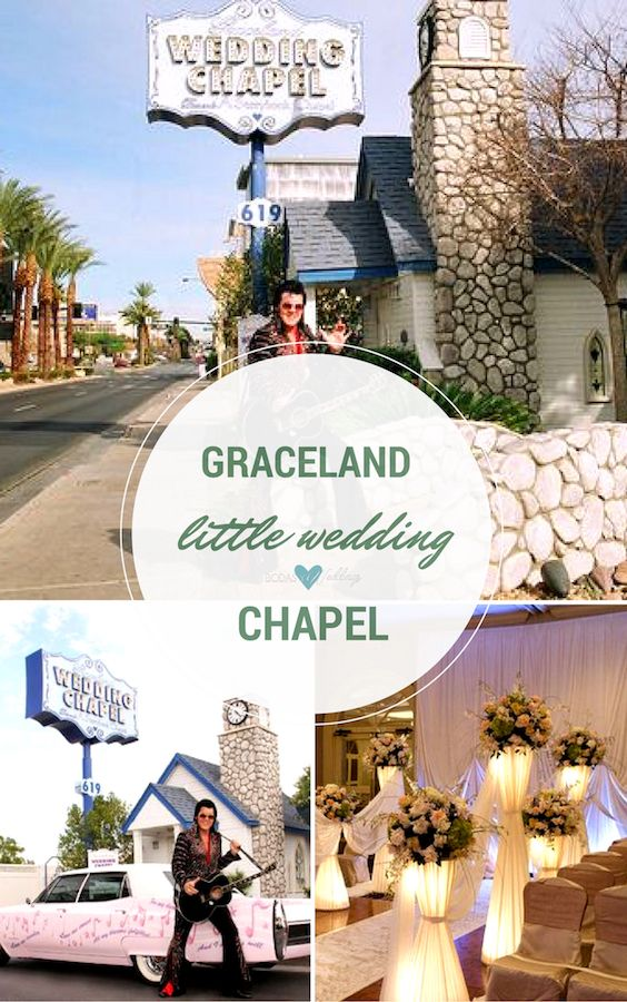 "Get married by Elvis at the Graceland Little Wedding Chapel. ""Can't help but falling in love"" with this idea."