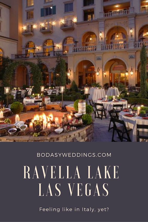 Ravella Lake Las Vegas. Feeling like in Italy yet? Hilton Andrea Eppolito Events.