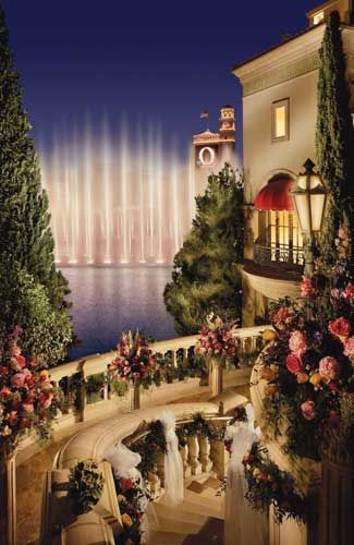 Wealth and luxury at this #Vegas wedding #venue Terrazza di Sogno at Bellagio.