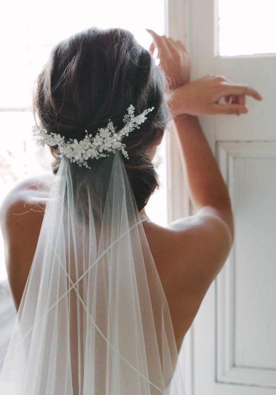 ¿Cuantos padrinos necesitas para tu boda religiosa? Velo y complemento de Tania Maras.