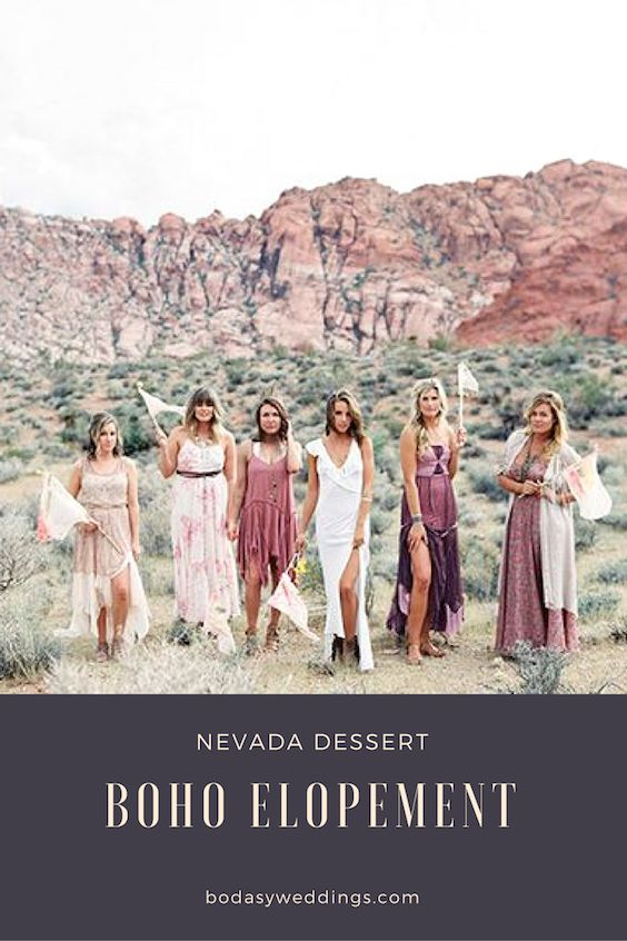 Nothing more romantic than a boho elopement in the Nevada desert, don't you agree?