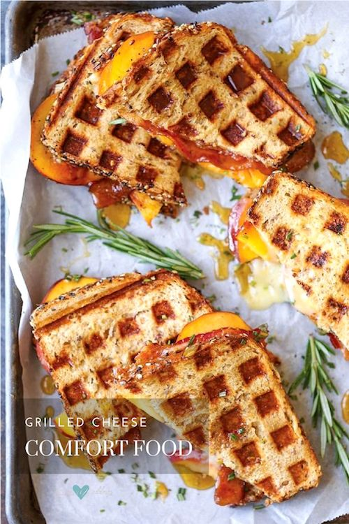 A variation on the classic grilled cheese sandwich that will surprise and tempt your guests.