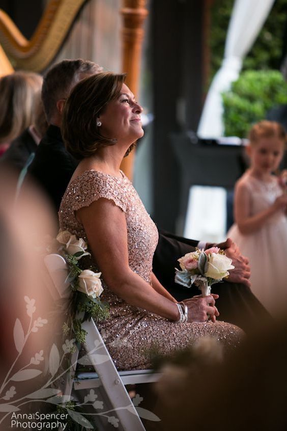 This moment masterfully captured by Anna and Spencer Photography, Atlanta Documentary Wedding Photographers, of the mother of the bride is something you will cherish forever as your friend's wedding officiant.