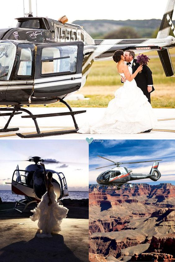 Your unforgettable wedding is just a helicopter ride away.