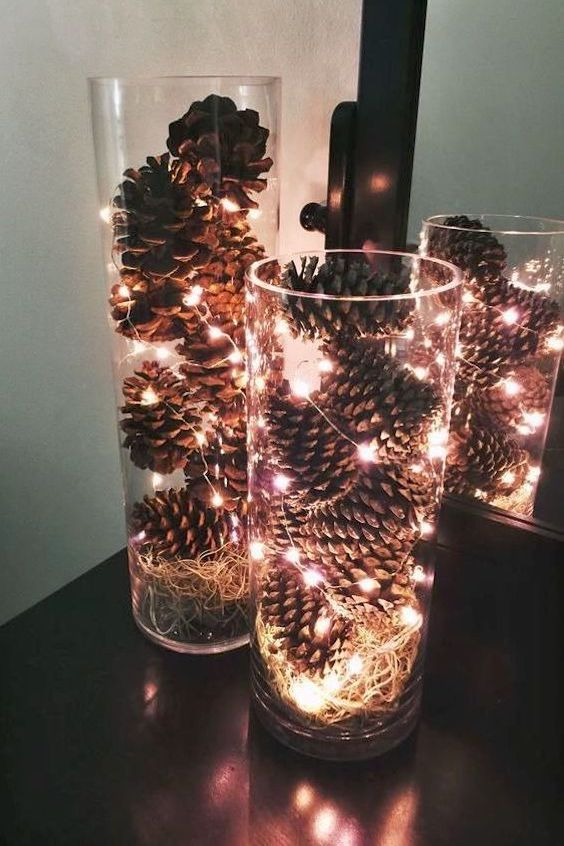 Pine Cone Christmas Lights
