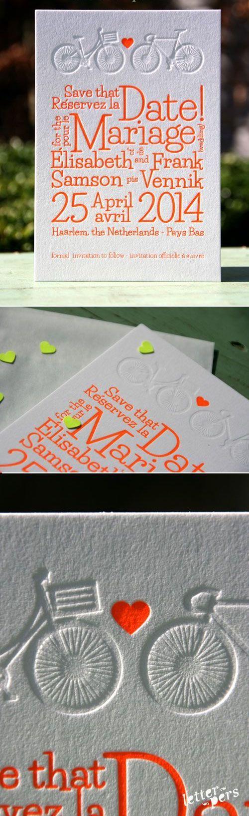 Invitación bilingüe en letterpress de letterpers.