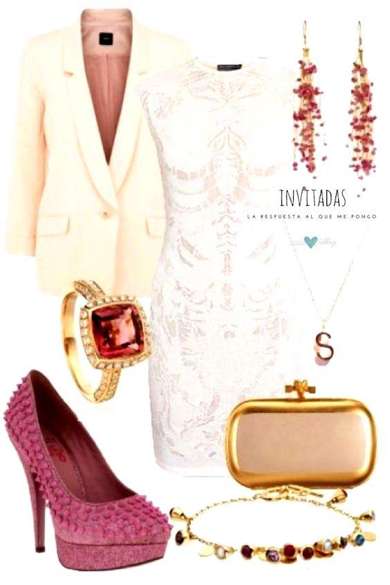 Un look para asistir a una boda civil lleno de glamour y elegancia. ¿Les gusta?