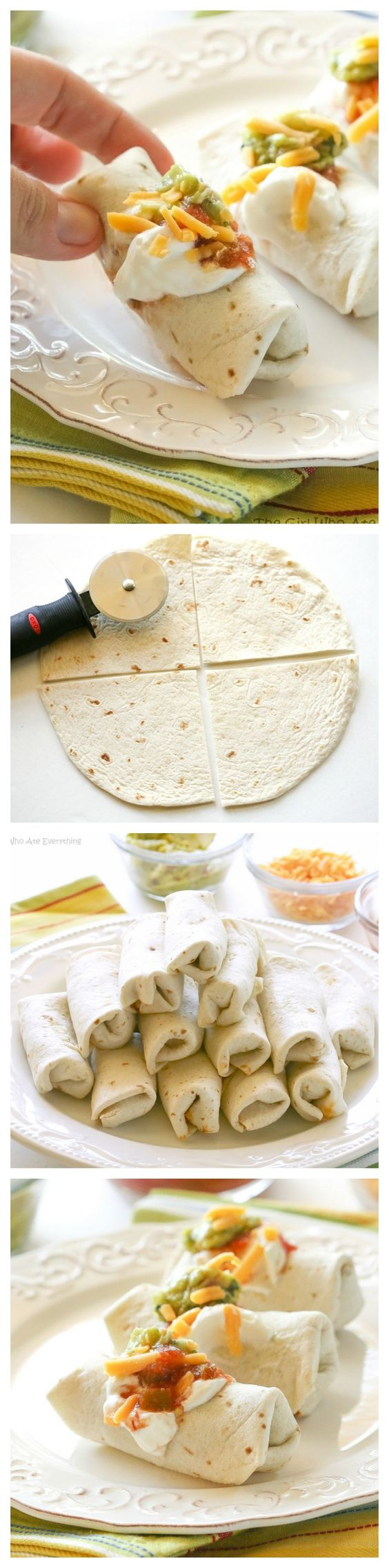 Serve some mini burritos already made or let your guests top their own.
