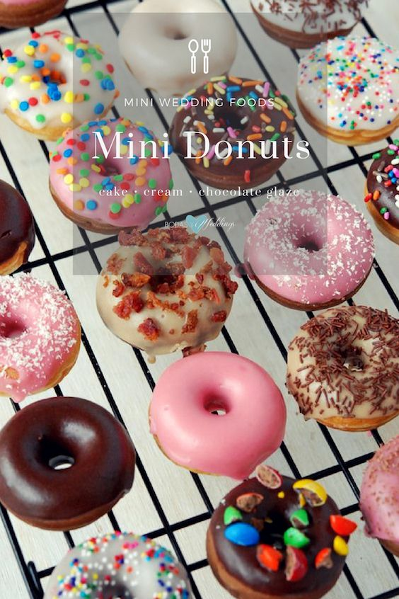 Mini doughnuts for your dessert table.