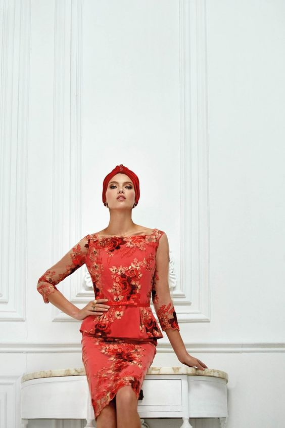 Love this red number for the mother of the bride by Carla Ruiz.