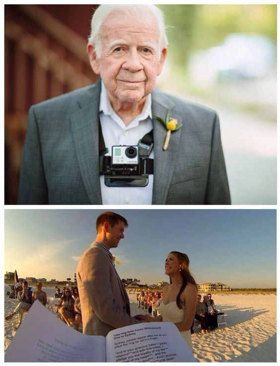 Have the officiant wear a GoPro during the wedding and get a whole new perspective on the ceremony.