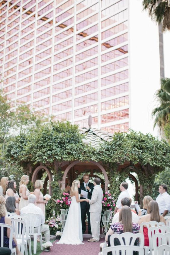 Looking for the most original venues to get married in Vegas? Flamingo, Las Vegas. Buffy Dekmar Photography & Dekmar Films.