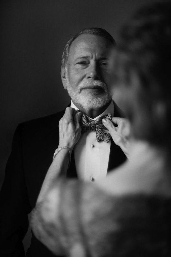 El padre de la novia momentos antes de la boda.