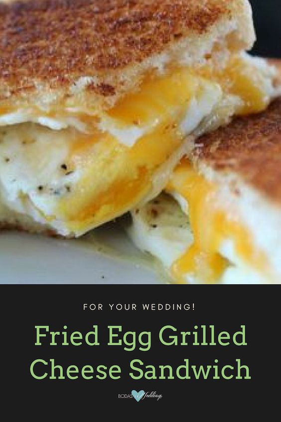 Fried egg grilled cheese sandwich. Are you planning your grilled cheese bar already?