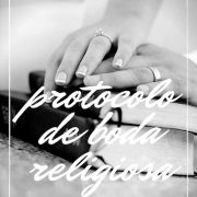Protocolo de boda religiosa en los Estados Unidos.