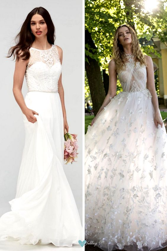 Dos looks muy románticos de vestidos de novia. Wtoo y Lian Rokman 2018.