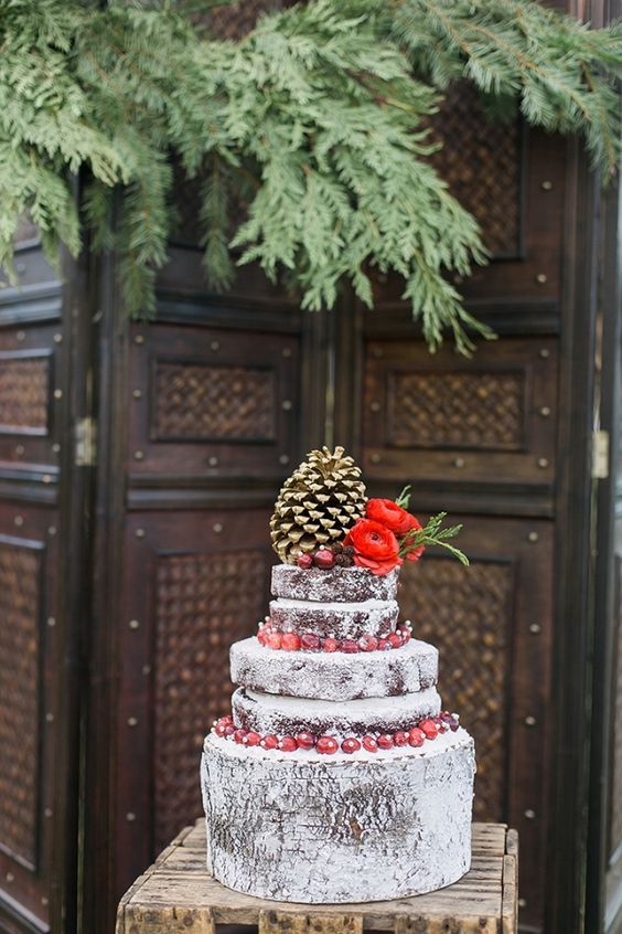 Romantic winter holiday wedding inspiration from Whimsie Photo and Video.