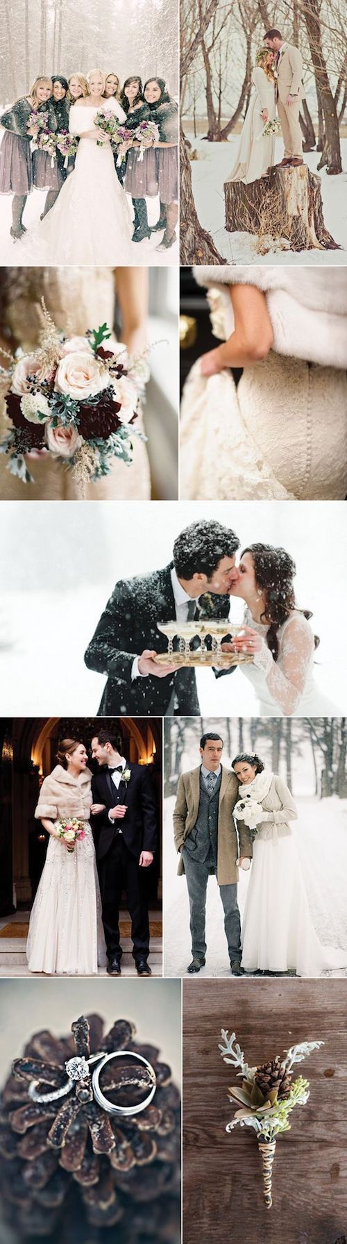 Lovely and cheerful winter wedding ideas.