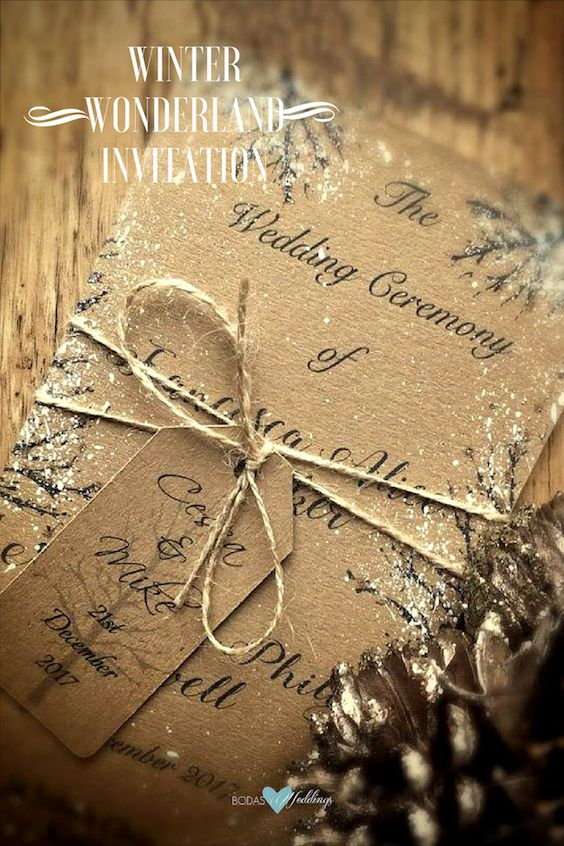 Winter wonderland invitation.